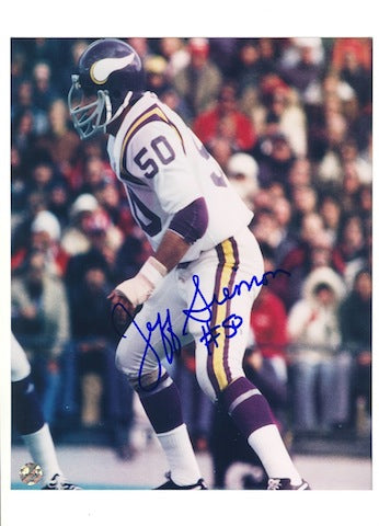 Autographed Jeff Siemon Minnesota Vikings 8x10 Photo PSM-Powers Sports Memorabilia