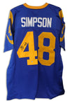 Bill Simpson Los Angeles Rams Autographed Blue Jersey PSM-Powers Sports Memorabilia