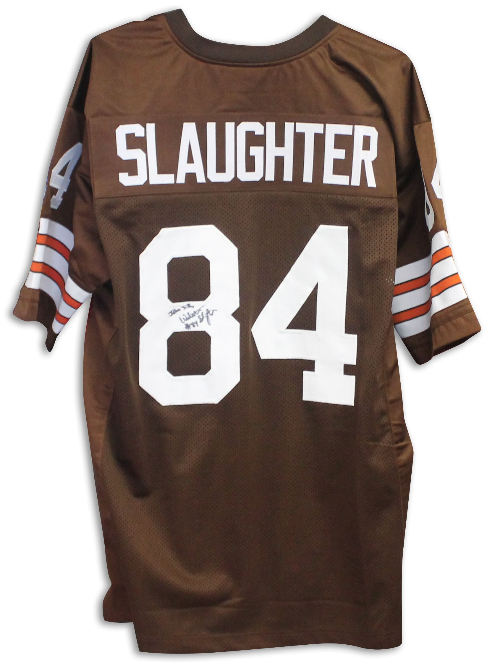 low priced 5a61a 383dd Webster Slaughter Cleveland Browns Autographed Brown Jersey PSM