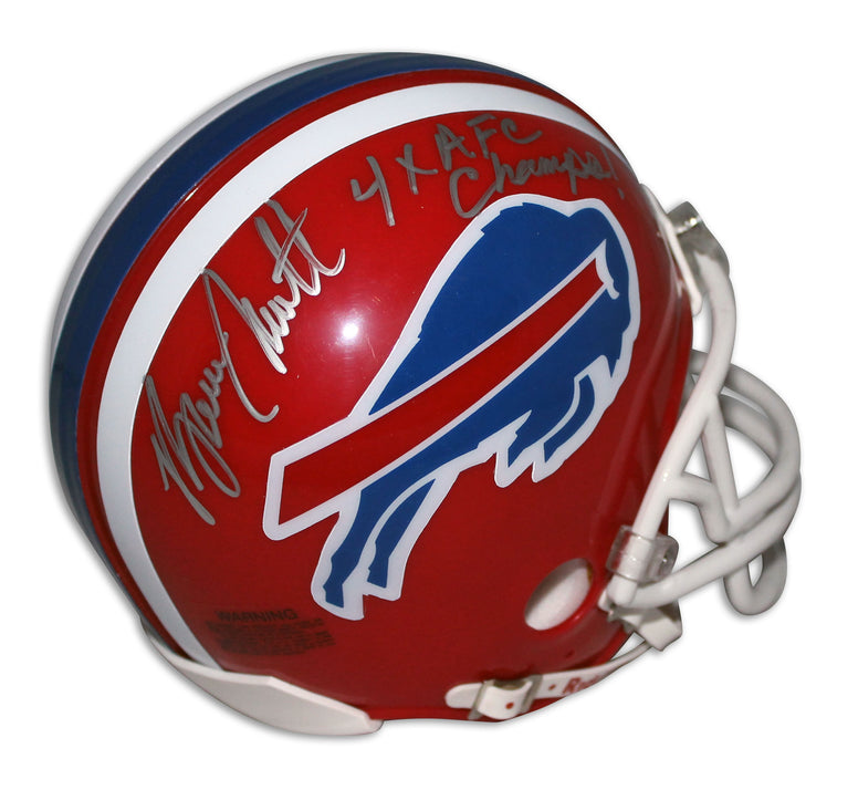 "Bruce Smith Buffalo Bills Autographed Mini Helmet Inscribed ""4X AFC Champs"" PSM-Powers Sports Memorabilia"