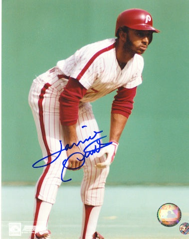 Autographed Lonnie Smith Philadelphia Phillies 8x10 Photo PSM-Powers Sports Memorabilia