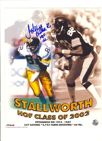 "Autographed John Stallworth Pittsburgh Steelers 16x20 Hall of Fame Collage Inscribed ""HOF 02"" PSM-Powers Sports Memorabilia"