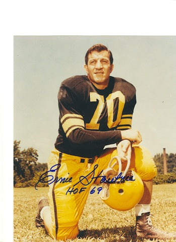 "Autographed Ernie Stautner Pittsburgh Steelers 8x10 Photo Inscribed ""HOF 69"" PSM-Powers Sports Memorabilia"