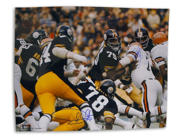 Autographed Steel Curtain Pittsburgh Steelers 16x20 Photo PSM-Powers Sports Memorabilia