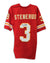 "Jan Stenerud Kansas City Chiefs Autographed Red Throwback Jersey Inscribed ""HOF 91"" PSM-Powers Sports Memorabilia"