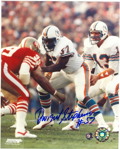 Autographed Dwight Stephenson Miami Dolphins 8x10 Photo PSM-Powers Sports Memorabilia