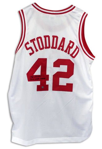 54b48045581d Tim Stoddard North Carolina State Wolfpack Autographed White Jersey  Inscribed