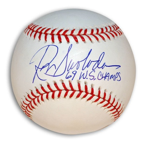 "Autographed Ron Swoboda MLB Baseball Inscribed ""69 WS Champs"" PSM-Powers Sports Memorabilia"