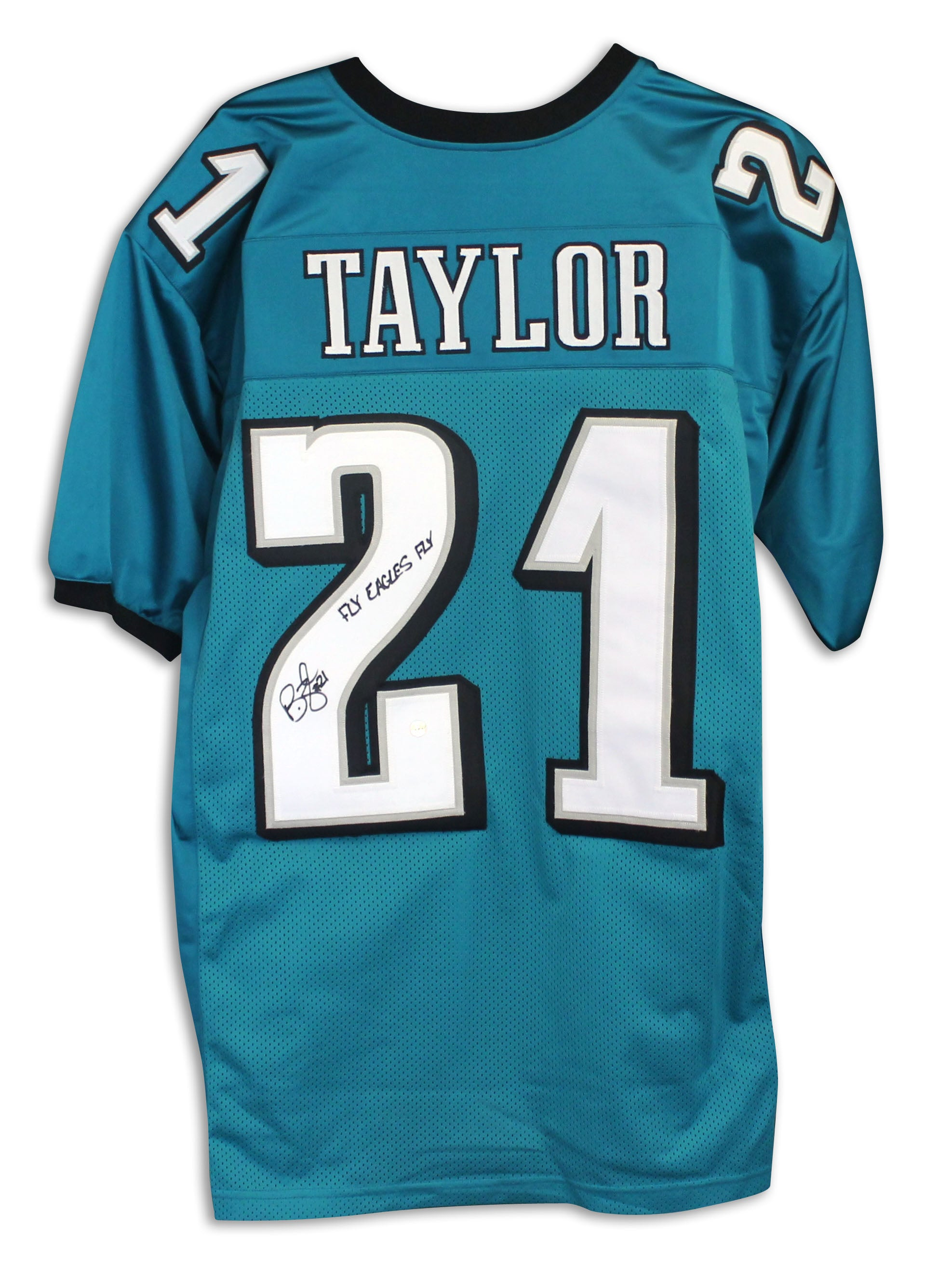 official photos 626d1 03602 Bobby Taylor Philadelphia Eagles Autographed Green Jersey Inscribed