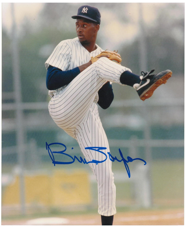Brien Taylor New York Yankees Autographed 8x10 Photo. This Item comes with a COA from Autograph-Sports. PSM-Powers Sports Memorabilia