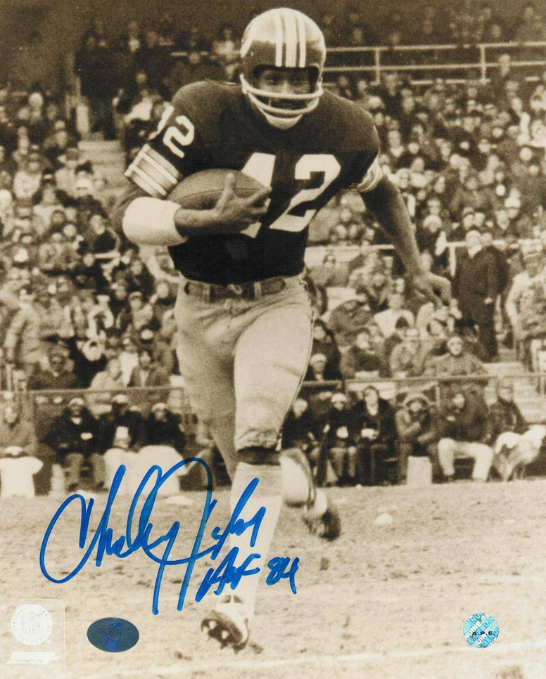 "Charley Taylor Washington Redskins Autographed 8x10 Photo Inscribed ""HOF 84"" -Running up Field- PSM-Powers Sports Memorabilia"