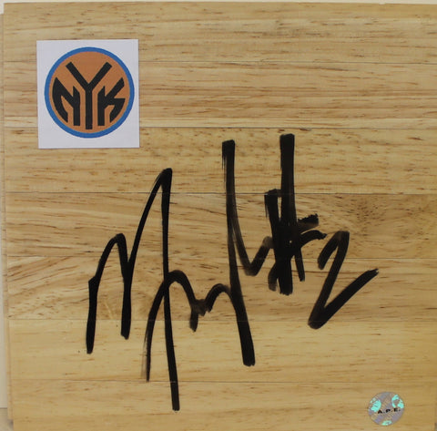 Maurice Taylor New York Knicks Autographed 6x6 Floor Board PSM-Powers Sports Memorabilia