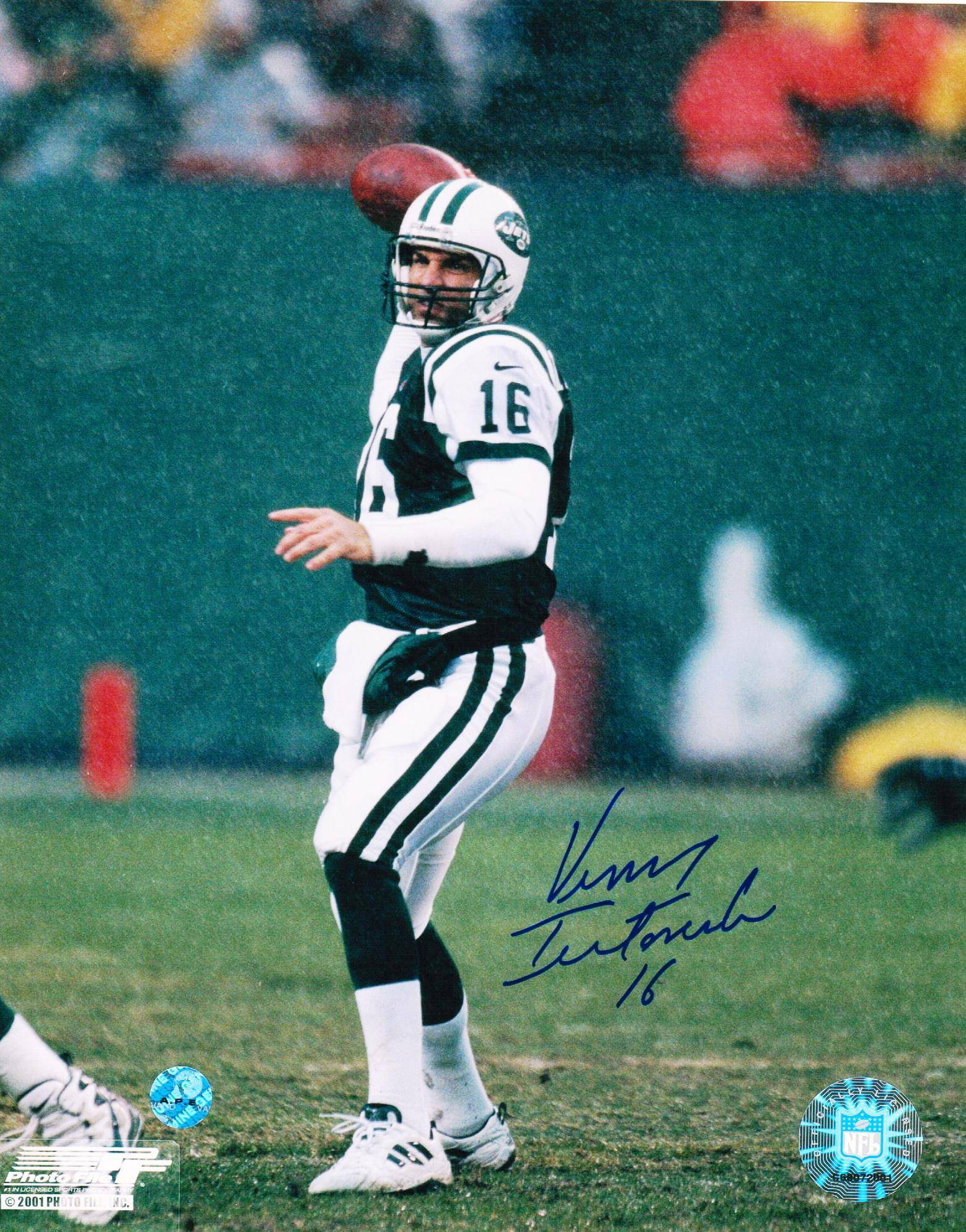 Vinny Testaverde New York Jets Autographed 8x10 Photo PSM-Powers Sports Memorabilia