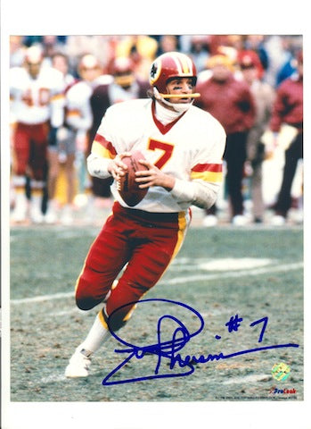 Autographed Joe Theismann Washington Redskins 8x10 Photo PSM-Powers Sports Memorabilia