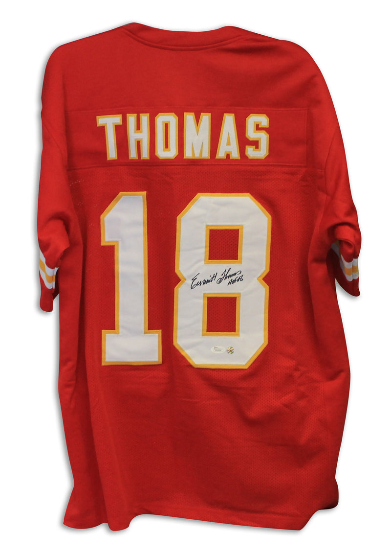 "Emmitt Thomas Kansas City Chiefs Autographed Throwback Jersey Inscribed ""HOF 08"" PSM-Powers Sports Memorabilia"