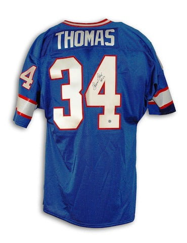 "Autographed Thurman Thomas Buffalo Bills Blue Throwback Jersey Inscribed ""HOF 07"" PSM-Powers Sports Memorabilia"