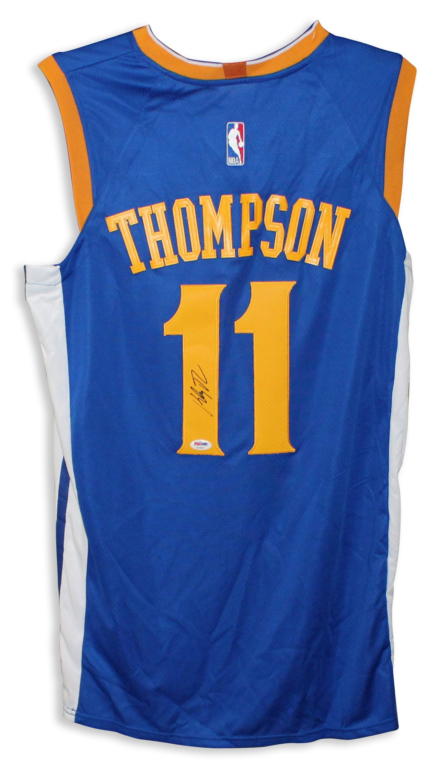 Klay Thompson Golden State Warriors Autographed Blue Jersey dff8a1046