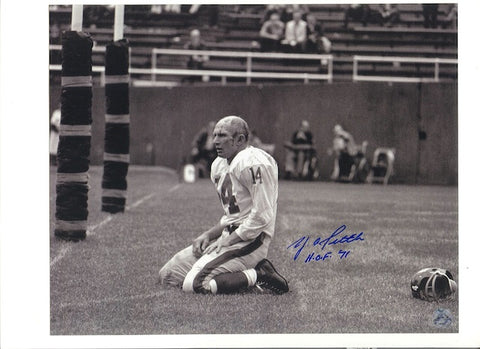"Autographed Y.A. Tittle New York Giants 16x20 Photo Inscribed ""HOF '71"" PSM-Powers Sports Memorabilia"