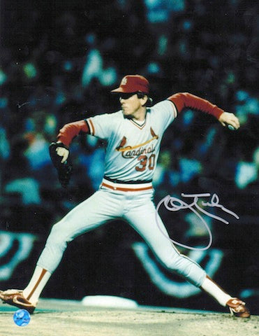 Autographed John Tudor St. Louis Cardinals 8x10 Photo PSM-Powers Sports Memorabilia