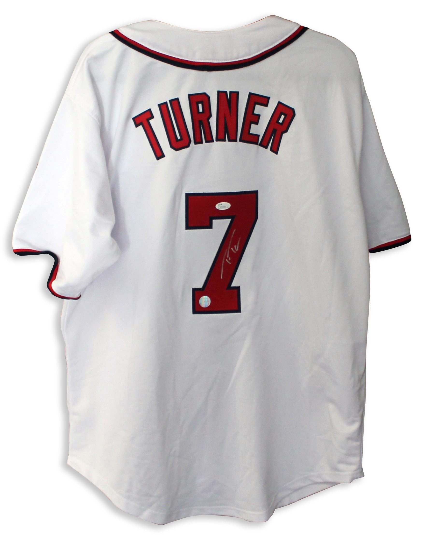 sale retailer b555a f7ae4 Trea Turner Washington Nationals Autographed White Jersey PSM