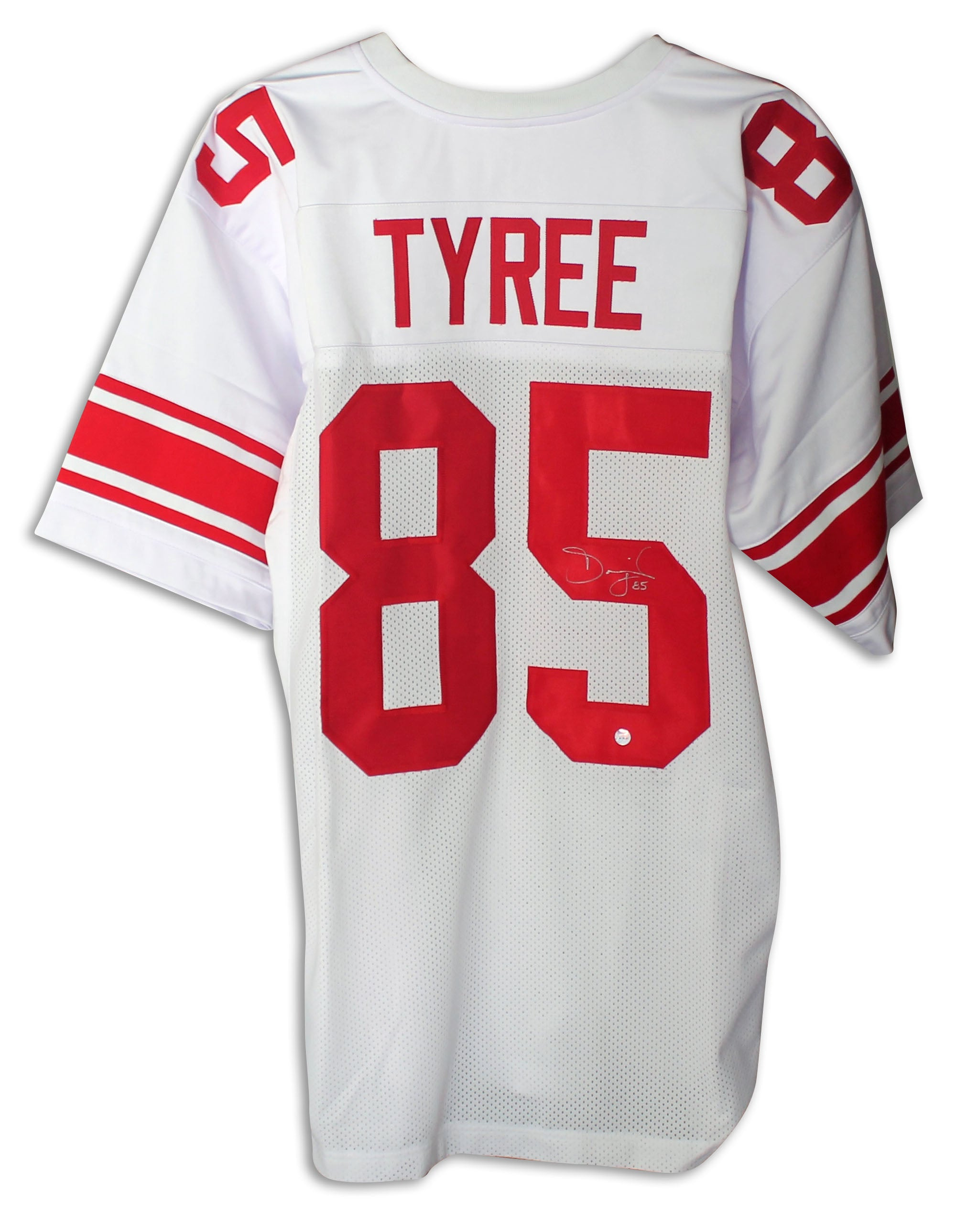 David Tyree New York Giants Autographed White Jersey PSM-Powers Sports Memorabilia