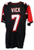 Michael Vick Atlanta Falcons Autographed Black Jersey PSM-Powers Sports Memorabilia
