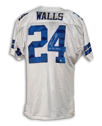 "Autographed Everson Walls Dallas Cowboys White Throwback Jersey Inscribed ""4X Pro Bowl"" PSM-Powers Sports Memorabilia"