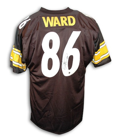 Autographed Hines Ward Pittsburgh Steelers Black Throwback Jersey PSM-Powers Sports Memorabilia