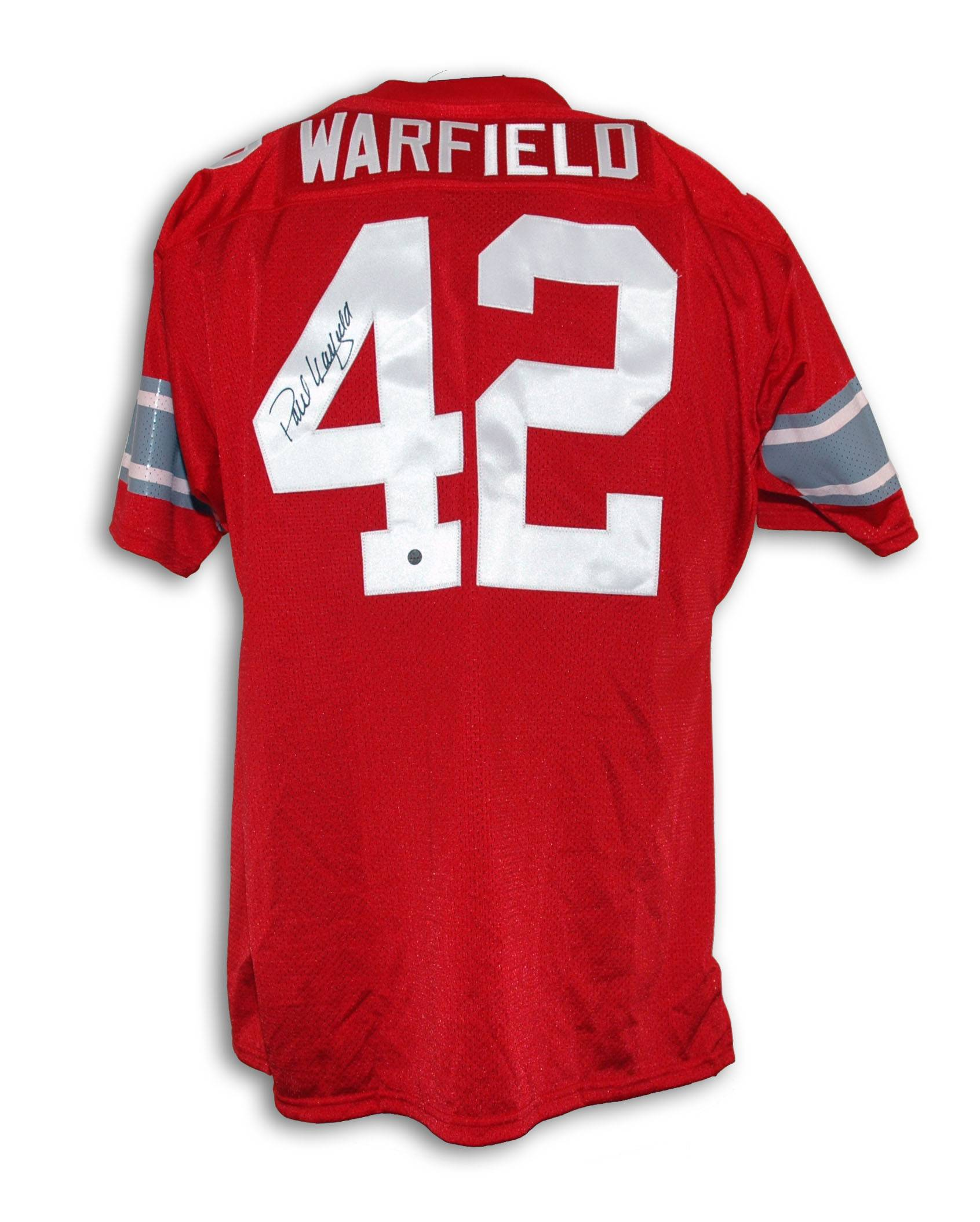 Paul Warfield Ohio State Buckeyes Autographed Throwback Jersey PSM-Powers Sports Memorabilia