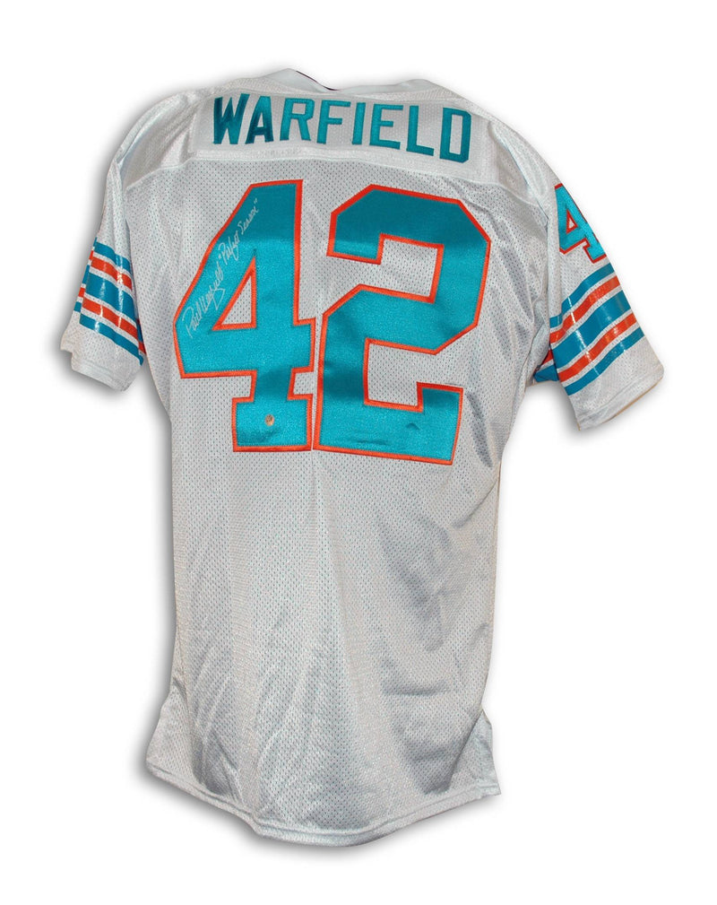 "Paul Warfield Miami Dolphins Autographed Throwback Jersey Inscribed ""Perfect Season"" PSM-Powers Sports Memorabilia"