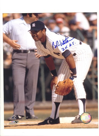 "Autographed Bob Watson New York Yankees 8x10 Photo Inscribed ""2X AS"" PSM-Powers Sports Memorabilia"