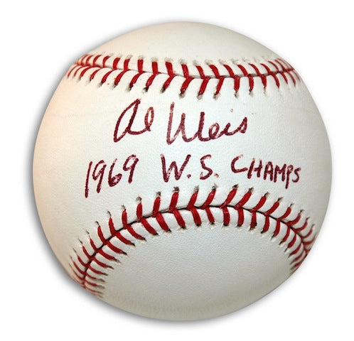Autographed Al Weis Baseball inscribed 1969 WS Champs PSM-Powers Sports Memorabilia