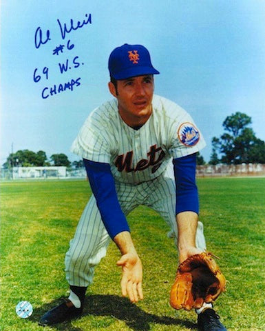 "Autographed Al Weis New York Mets 8x10 Photo Inscribed ""69 WS Champs"" PSM-Powers Sports Memorabilia"
