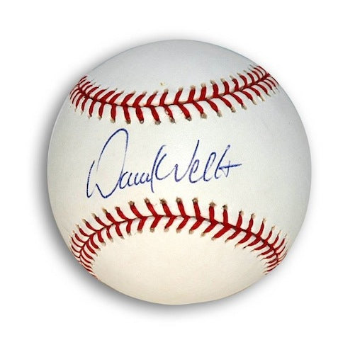 Autographed David Wells MLB Baseball PSM-Powers Sports Memorabilia