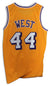 Jerry West Los Angeles Lakers Autographed Gold Jersey PSM-Powers Sports Memorabilia