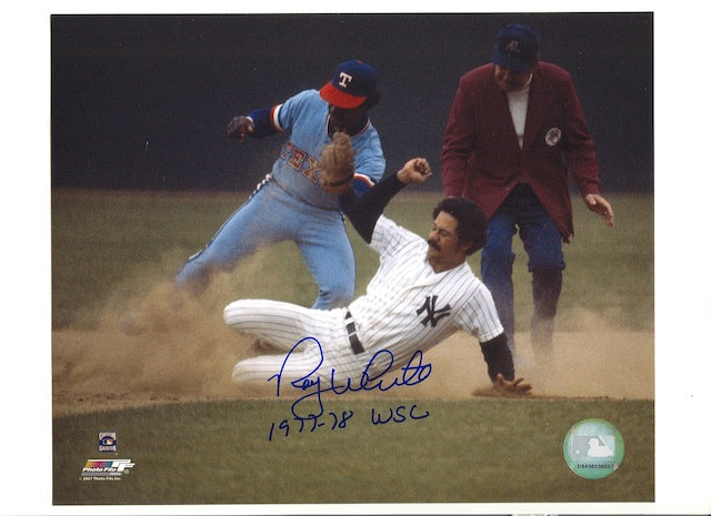 "Autographed Roy White New York Yankees 8x10 Photo Inscribed ""1977-78 WSC"" PSM-Powers Sports Memorabilia"