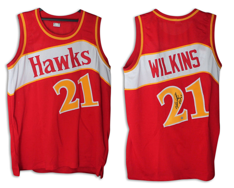 "Dominique Wilkins Atlanta Hawks Autographed Red Jersey Inscribed ""HOF 06"" PSM-Powers Sports Memorabilia"