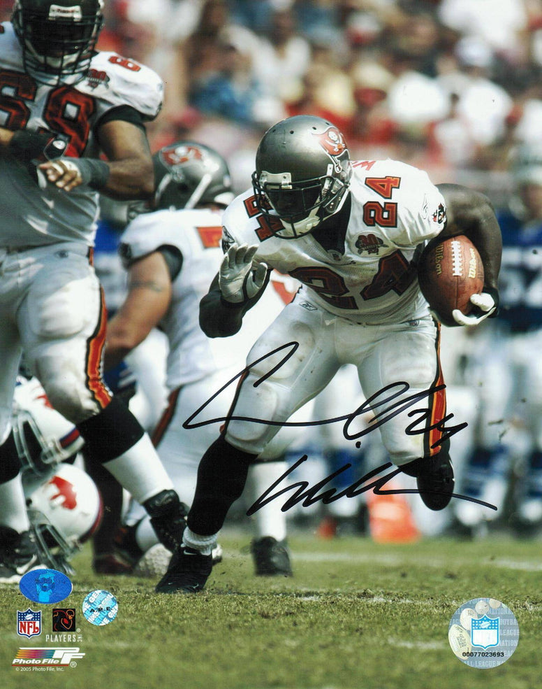 Carnell 'Cadillac' Williams Tampa Bay Buccaneers Autographed 8x10 Photo -Turning the Corner- PSM-Powers Sports Memorabilia
