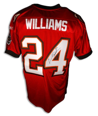 "Autographed Carnell ""Cadillac"" Williams Red Authentic Buccaneers Reebok Jersey PSM-Powers Sports Memorabilia"