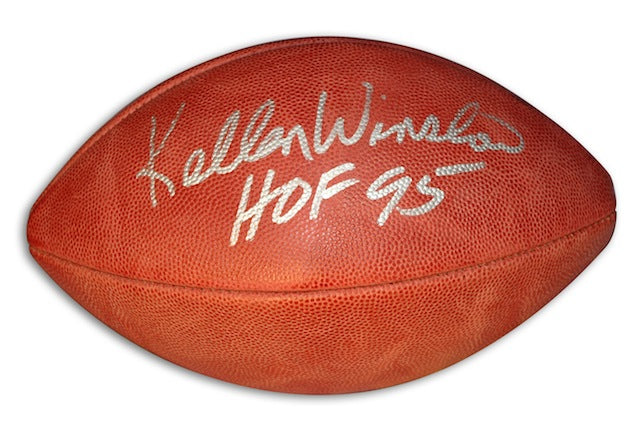 Autographed Kellen Winslow NFL Football inscribed HOF 95 PSM-Powers Sports Memorabilia