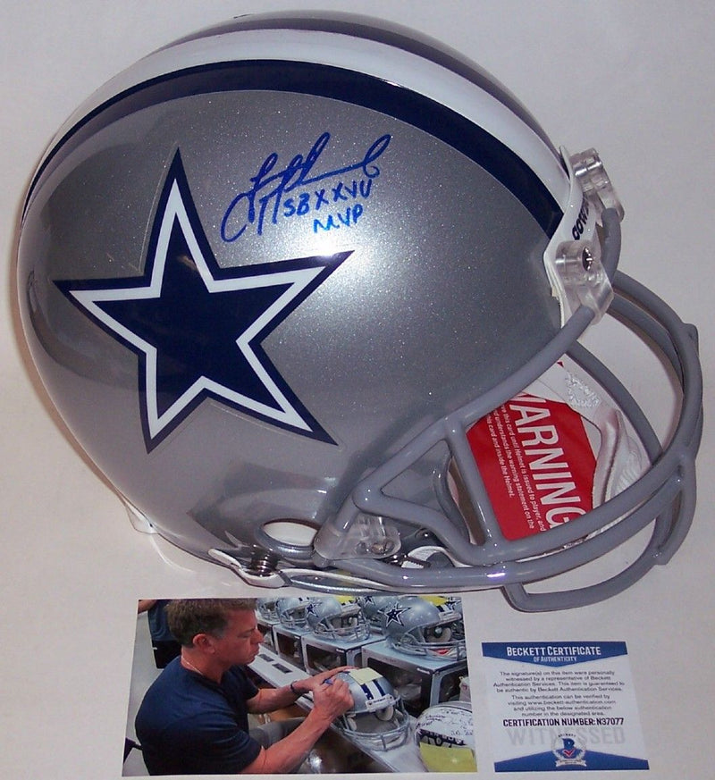Troy Aikman Autographed Hand Signed Dallas Cowboys Authentic Helmet - BAS Beckett PSM-Powers Sports Memorabilia