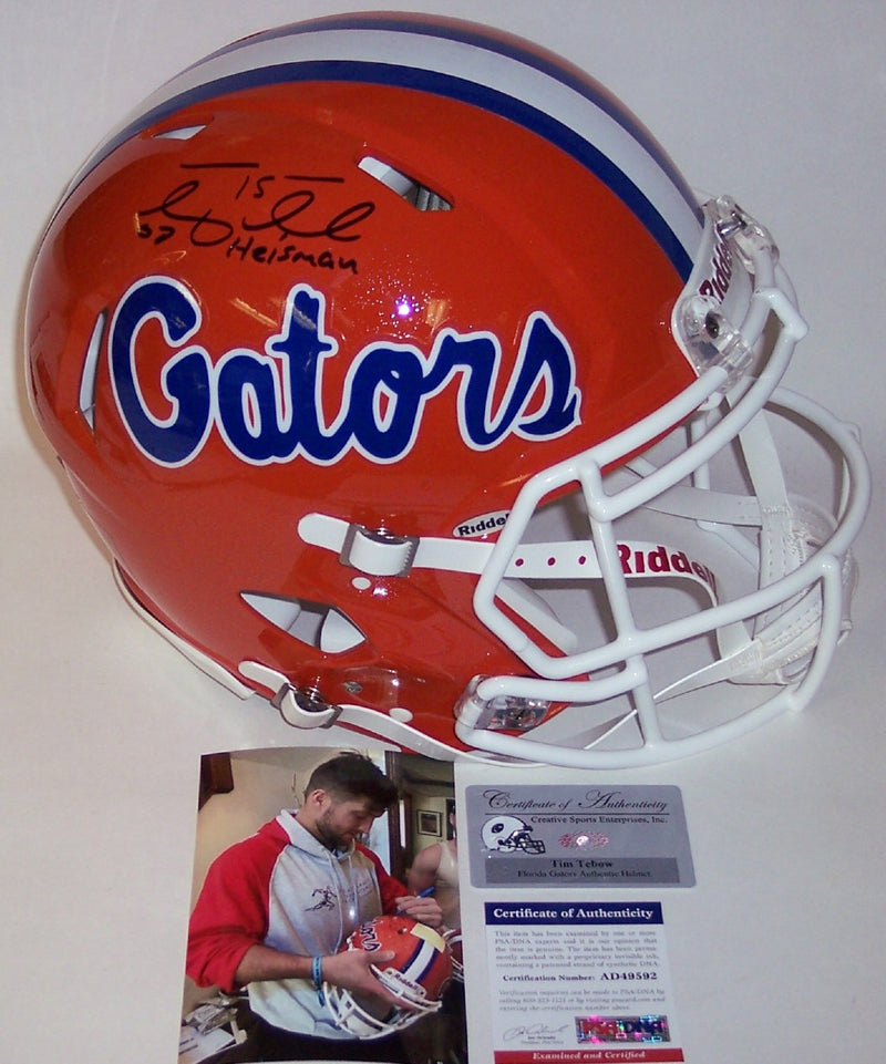 Tim Tebow Autographed Hand Signed Florida Gators Speed Full Size Authentic Helmet - PSA/DNA PSM-Powers Sports Memorabilia
