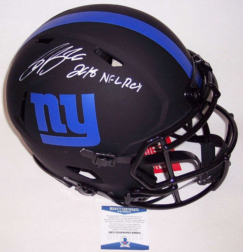 Saquon Barkley Autographed Hand Signed New York Giants Eclipse Speed Authentic Full Size Helmet - BAS Beckett PSM-Powers Sports Memorabilia