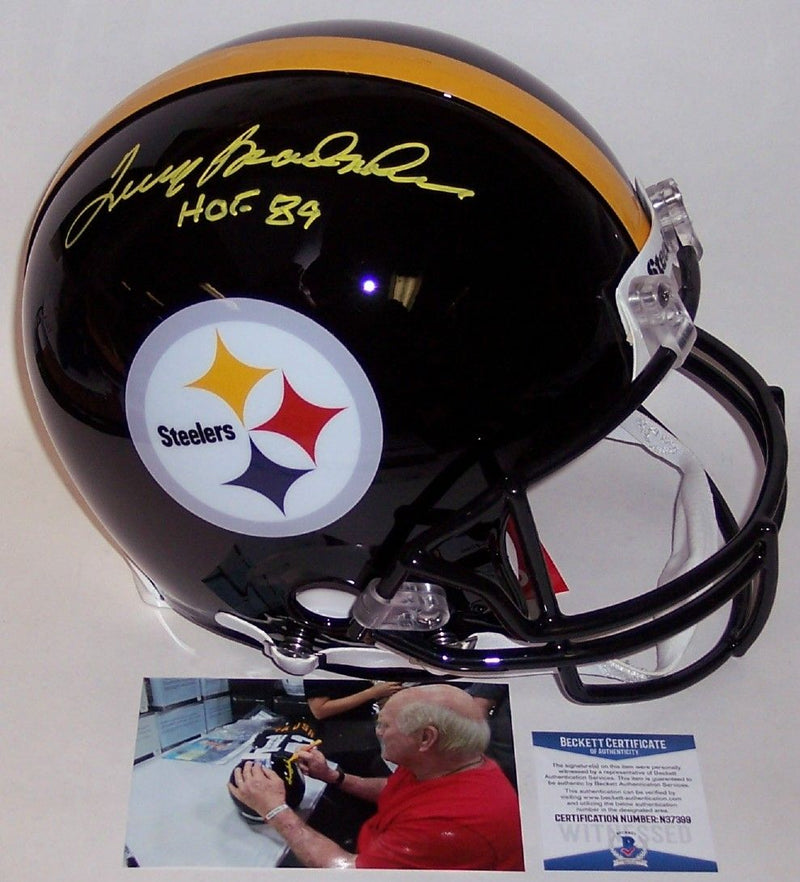 Terry Bradshaw Autographed Hand Signed Pittsburgh Steelers Full Size Authentic Pro Helmet - BAS Beckett PSM-Powers Sports Memorabilia