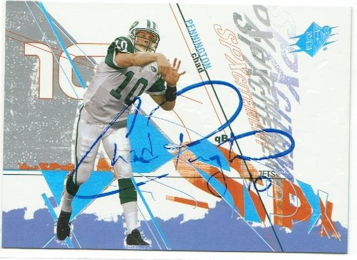 Chad Pennington New York Jets Autographed 2003 SPx Card PSM-Powers Sports Memorabilia