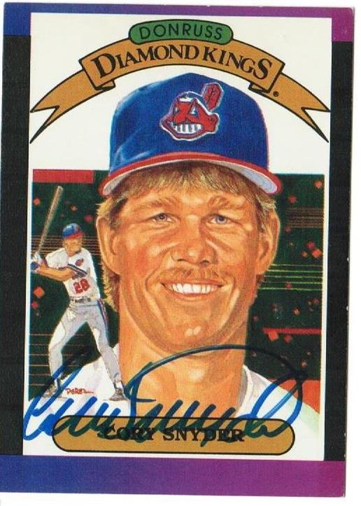 Cory Snyder Cleveland Indians Autographed 1989 Donruss Diamond Kings Card PSM-Powers Sports Memorabilia