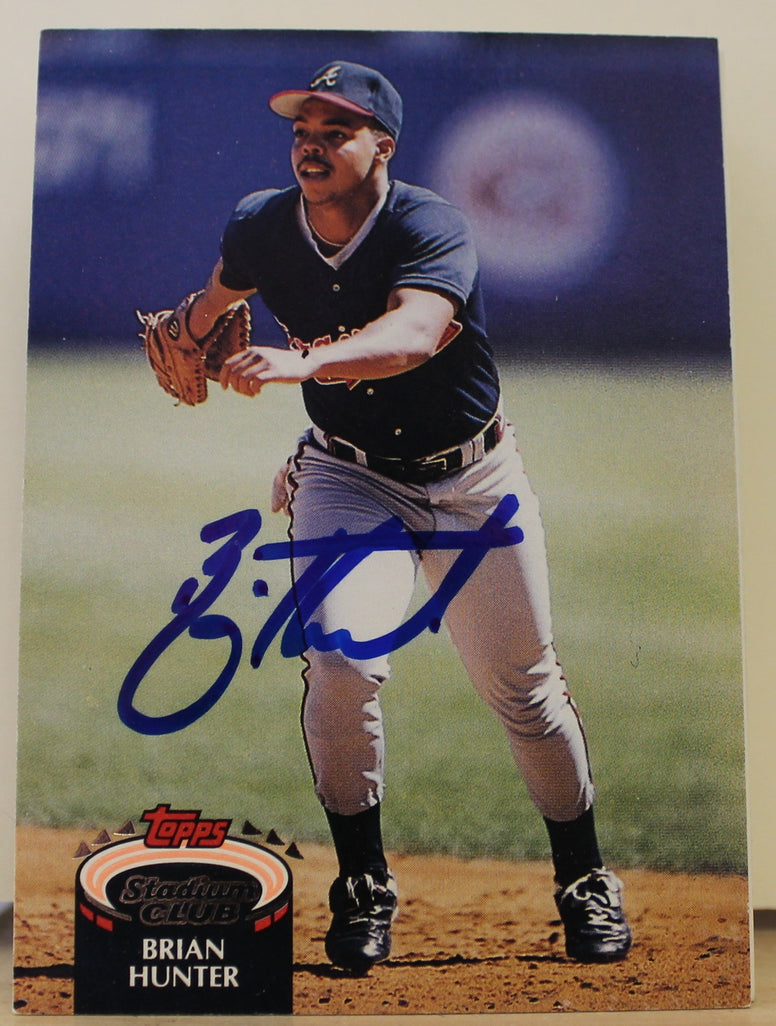 Brian Hunter Atlanta Braves Autographed 1992 Stadium Club Card #432. This item comes with a certificate of authenticity from Autograph-Sports. PSM-Powers Sports Memorabilia