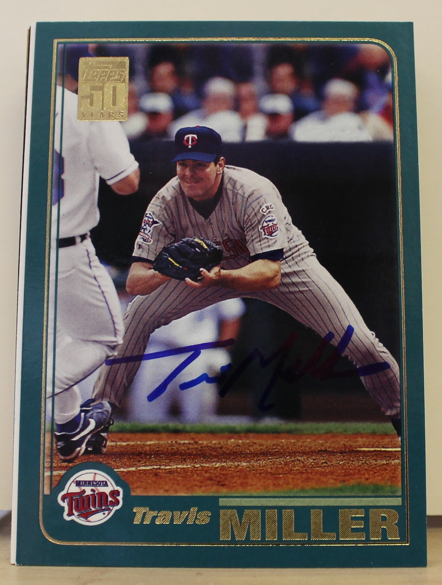 Travis Miller Minnesota Twins Autographed 2001 Topps Card #241. This item comes with a certificate of authenticity from Autograph-Sports. PSM-Powers Sports Memorabilia