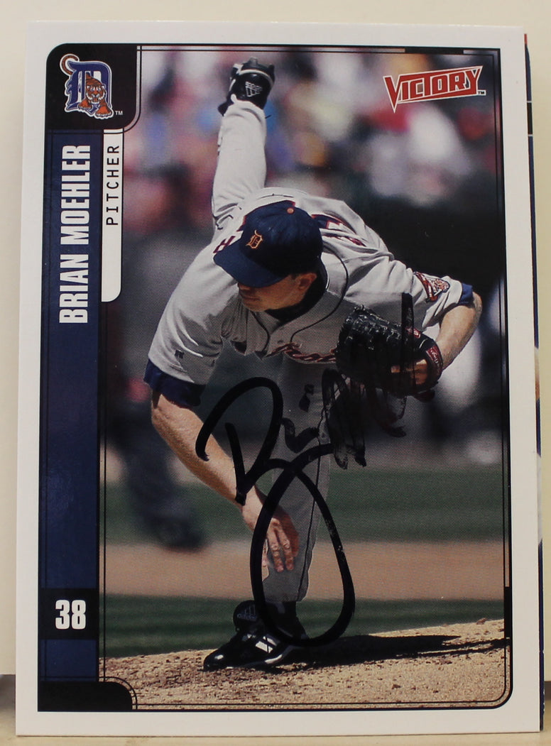 Brian Moehler Detroit Tigers Autographed 2001 UD Victory Card #167. This item comes with a certificate of authenticity from Autograph-Sports. PSM-Powers Sports Memorabilia
