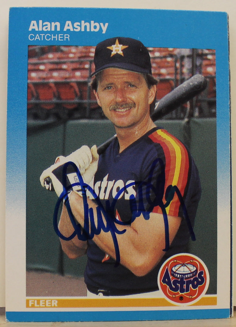 Alan Ashby Houston Astros Autographed 1987 Fleer Card #50. This item comes with a certificate of authenticity from Autograph-Sports. PSM-Powers Sports Memorabilia